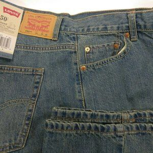 New Levis 550 Relaxed Fit Blue Jeans 14 Husky W33